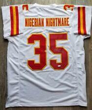 Christian Okoye autographed signed jersey NFL Kansas City Chiefs JSA w  COA 428f18096