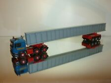 CORGI TOYS MAN TRUCK LONG VEHICLE HEAVY HAULAGE - BLUE 1:50? - VERY GOOD