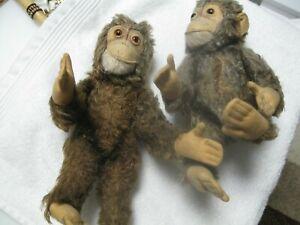 2 Steiff  Affen aus die 50 ca.26 cm groß