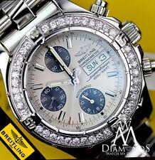 Diamante Breitling A13340 Superocean Acero Inoxidable Automático Reloj Hombre