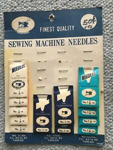 Finest quality vintage sewing machine needles partial amount Japan