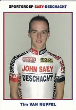 CYCLISME carte cycliste TIM VAN NUFFEL équipe SAY-DESCHACHT cyclo cross
