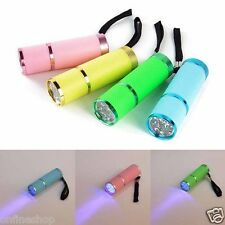 Mini Super Bright Torch Water Resistant Rubber Coated Body 9 LED Flashlight