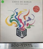 CHRIS DE BURGH Into The Light 1986 UK Vinyl LP + Inner Lyric EX+ / EX+ Nice Copy