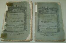 RARE, 1871, OLIVER GOLDSMITH, LE MINISTRE DE WAKEFIELD, 2 VOL. FRENCH