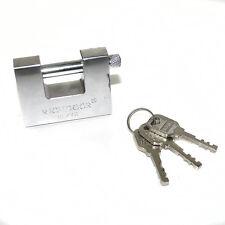 70mm Stahl Rollläden VORHÄNGSCHLOSS 3 Schlüssel groß hohe Sicherheit