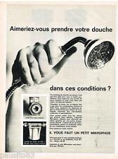 PUBLICITE ADVERTISING 095  1964  MICROPHOS PROGIL appareil  anti-calcaire