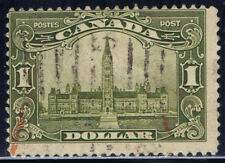 Canada #159(2) 1929 $1.00 olive green PARLIAMENT BUILDING Used Fine CV$60.00