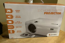 """NEW!!! Ematic - EPJ590WH LCD Projector - White 150"""" Home Theater Gaming Ready"""