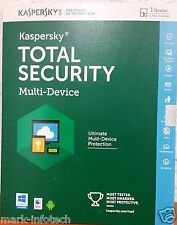 Kaspersky Total Security 2016 Multi device 1 User / 3 Year for PC, Mac & Android
