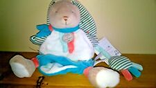 NEW  Doudou et Compagnie Happy Bunny Rabbit Hand Puppet Plush Comforter Soft Toy
