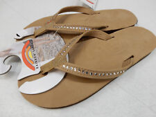 RAINBOW WOMENS CRYSTAL COLLECTION PREMIER LEATHER 401ALTSN SIERRA BROWN SIZE 10