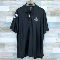 Adidas Golf ClimaCool Allstate Insurance Polo Shirt Gray White Mesh Mens Large