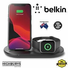 Belkin Boost Charge Wireless Charger iPhone Apple Watch AirPod 3 in 1 Dock Qi