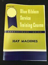 Ih Farmall Early Hay Machines Sickle Mower Rake Baler Dealer Service Manual Brsm