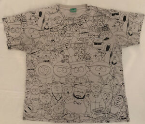 Vintage South Park Sweet Comedy Central All All Over Print T-Shirt Size Medium