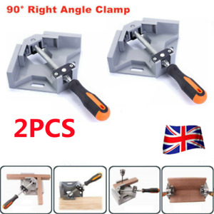 2Pcs 90° Right Angle Clamps Corner Clamp Vice Grip Welding Woodworking Clip UK
