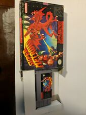Super Metroid (SNES, 1994) Cart and Box only, authentic box variant