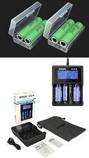4 Samsung Batteries INR18650 25R 2500mAh incl. XTAR VC4 Charger & akkubox