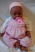 """Cute Vintage Cititoys Cloth / Vinyl 18"""" African American Girl Baby Doll"""