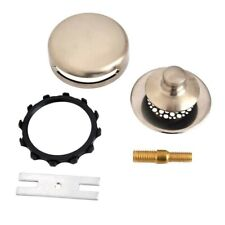 Watco Bathtub Stopper Grid Strainer Combo Kit Push-pull Brushed Nickel 948701