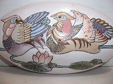 Vintage Chinese Porcelain Box Phoenix Firebirds Lotus Flowers