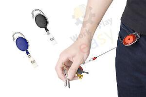 Portachiavi Retrattile Estensibile Block Shaft Sicura Chiavi Badge filo clip