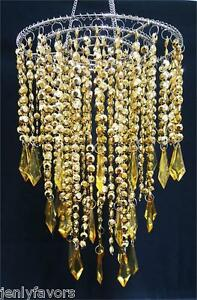 Acrylic Plastic Chandelier Gold For Party Decoration