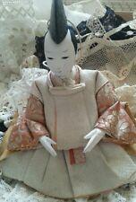 Antique Ningyō Japanese Doll Male Japan Asian Dolls Traditional Costume Gofun