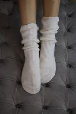 Beautifully Soft 100% Pure Cashmere Bed Socks - Ladies - Cream - UK 4-7
