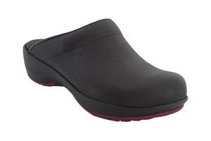 Sanita Hygge Wave Clogs - comfortable nurse shoes - Black leather