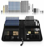 40pc Professional Sketching Pencils Drawing Set Artist Art Graphite Charcoal Kit
