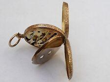 SUPER ANTICO 34MM 18K Solid Gold inseguito Orologio da taschino in fwo REVISIONATA 31.7 GRAMMI
