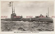 "Royal Navy Real Photo. HMS ""Sturgeon"" Submarine. Dutch  HNLMS ""Zeehond""  c1932"