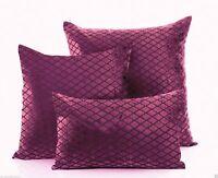 SAVOY Modern Velvet Damask Cushion Cover / Case Luxury Soft Scatter Small Large