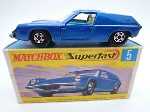 VINTAGE MATCHBOX SUPERFAST No.5e LOTUS EUROPA IN ORIGINAL BOX ISSUED 1969