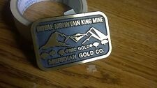 Royal Mountain King Mine Brass Buckle - Meridian Gold Co.