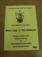 21/05/1995 Swindon LEAGUE FINALE COPPA Knockout: i Cervi Leap V IL MULINO A VENTO [a Swin