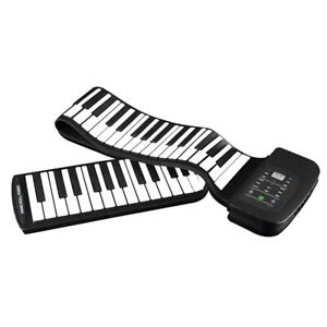 Tragbare 88-Tasten E-Piano Tastatur Flexibles Roll-Up Piano mit Pedal F1D3