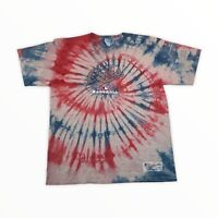 Majestic Chicago Cubs MLB Custom Tie-Dyed Retro Distressed Graphic T-Shirt XL