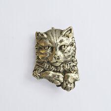 Retrato de plata esterlina Gato Broche Pin década de 1930