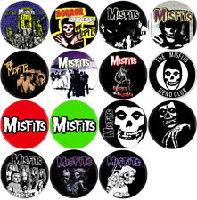 Misfits - Lot of 15 badges (pins, buttons, Black Flag, Ramones, Danzig)