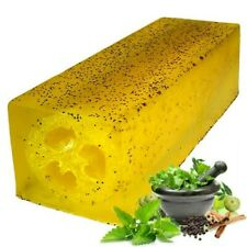 Luxury Handmade Loofah Soap - Peppermint & Herb Scrub 100g Exfoliating Lush Heal