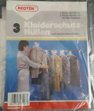 3 Stk. Kleiderschutzhüllen Mottenschutz-Hüllen Kleiderhülle transparent Folie