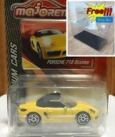 Majorette Porsche 718 Boxster Yellow Diecast 1/58 209G Free Display Box