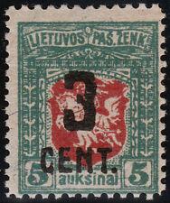 Lithuania Scott 122 (1922) Mint NH or VLH VF, CV $100-200.00 B