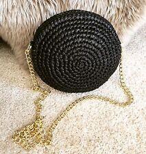 Glam crochet faux raffia shoulder cross body bag clutch Dolce Gabbana sol
