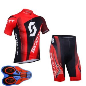 New Mens Cycling Short Sleeve Jersey Shorts Set Bicycle Outfits Bike Uniform