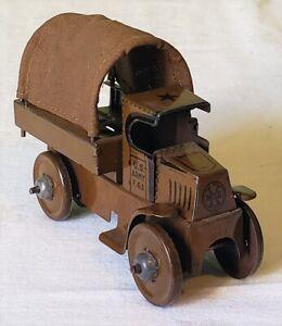 Marx Toys Friction Motor MACK U.S. ARMY TROOP TRUCK 20's SUPER RARE NICE ORIG.
