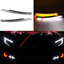 2PCS Direct Fit Honda Civic 4DR 2016-2018 LED Eyebrow DRL Headlight Turn Signals